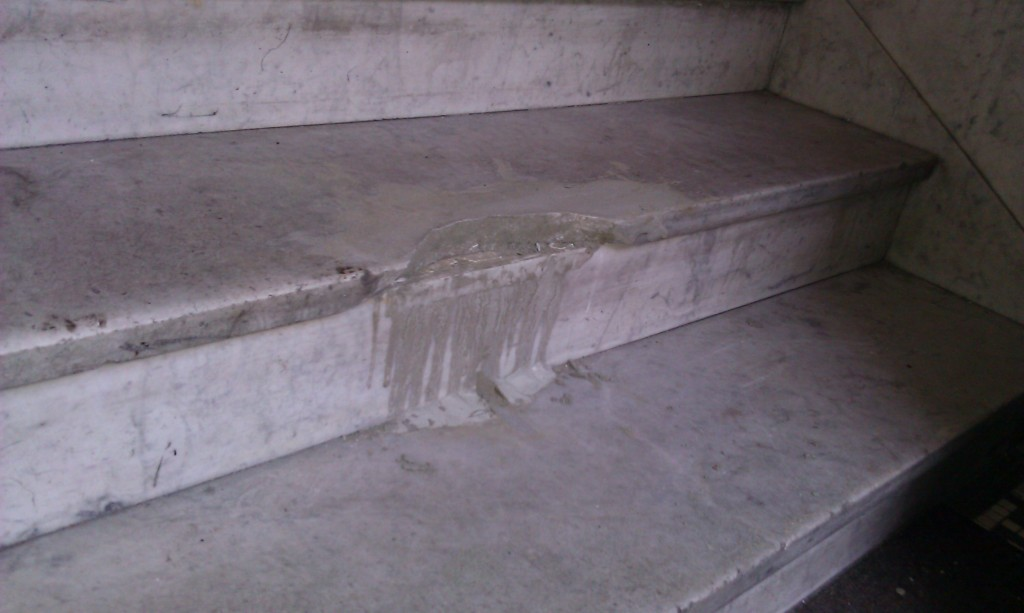 Chipped Marble Step
