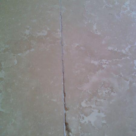 Botticino Bathtub Top Seam Repair