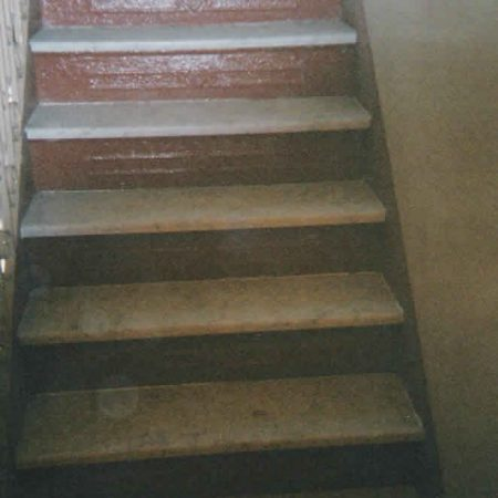 White Carrara Steps entire Staircase Installed