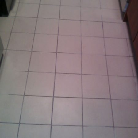 Ceramic Tiles on Kitchen Floor before Regrouting