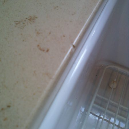 Corian Chip on Sink Edge Repair