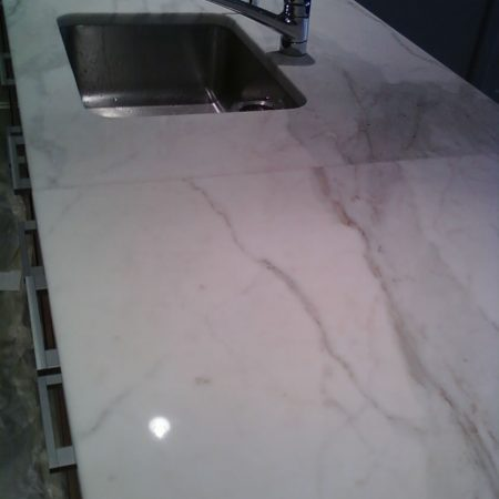 Refinished Calacatta Gold Counter