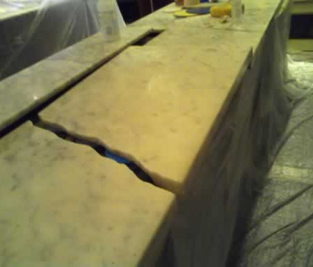 Cracked Retail Store Slab