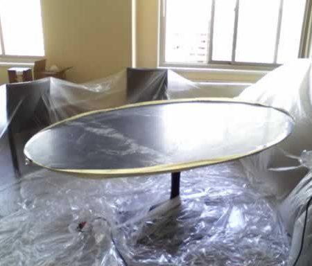 Tulip Saarinen Oval Table. Pre-honing on Premises