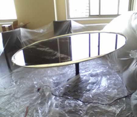 Tulip Saarinen Oval Dining Marble Table