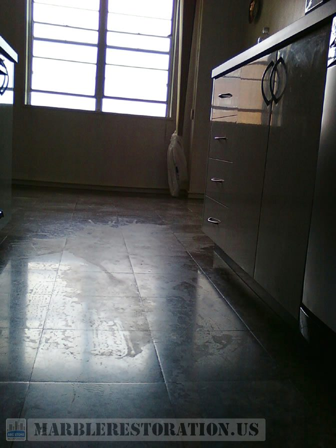 Etched Spot On Kitchen Floor Brooklyn Ny Before