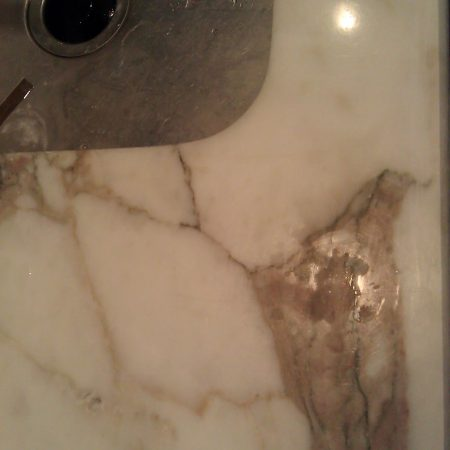 Etches on Calacatta Gold Countertop