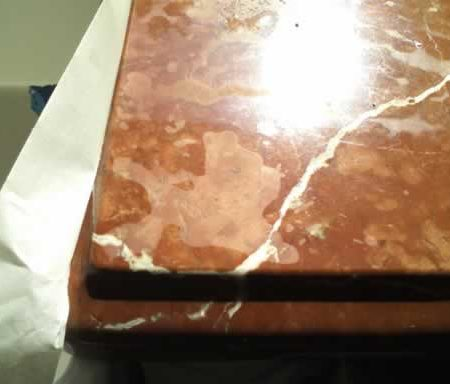 Splotchy Etches on Marble Countertop
