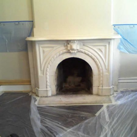 Classical Ornamental Fireplace Before Restoration