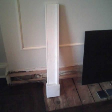 Fixed Broken Side Leg of Fireplace