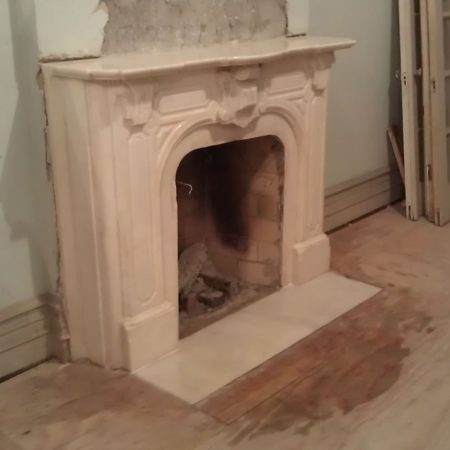 Cleaned and Restored Marble Fireplace