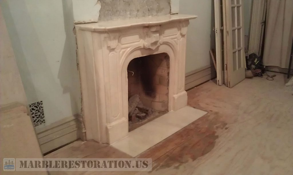 Image Of Cleaned And Restored Marble Fireplace
