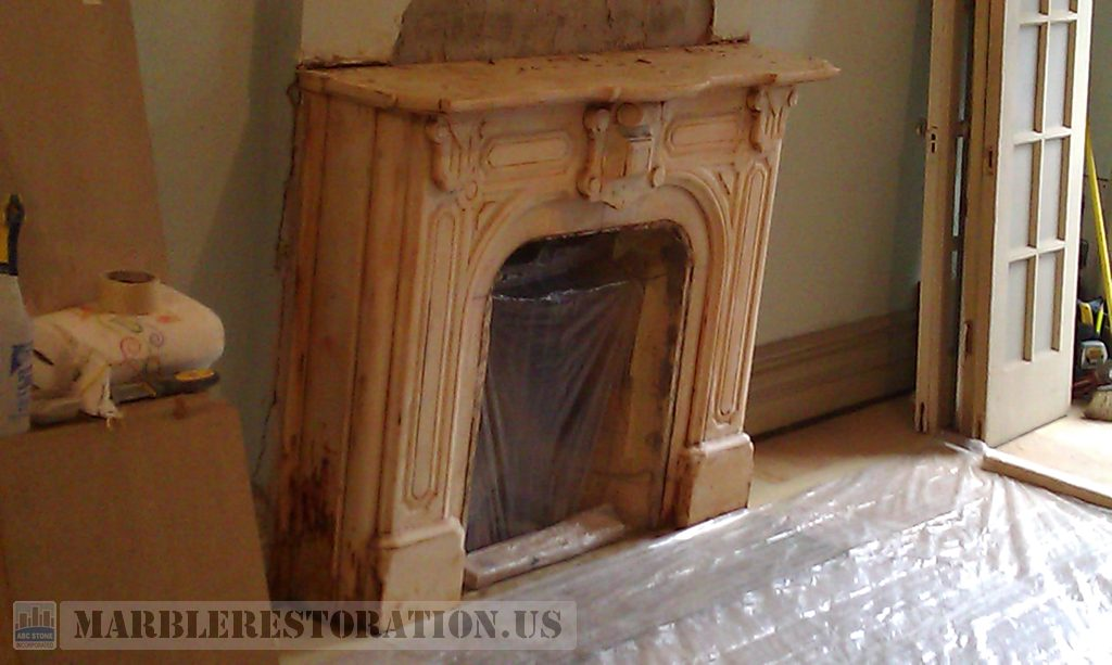 Typically a fireplace is made from marble like White Carrara