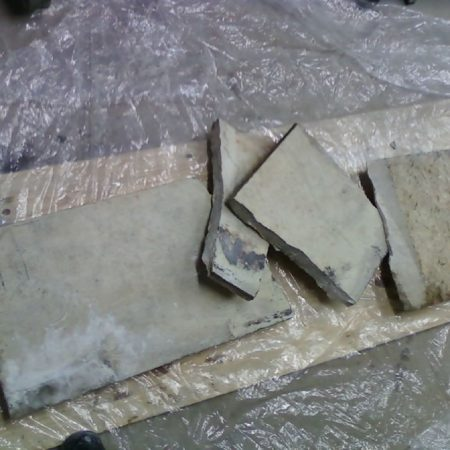 Broken Floor Slab of Marble Fireplace