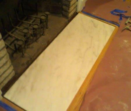 Fireplace Floor Slab Lying on Sand