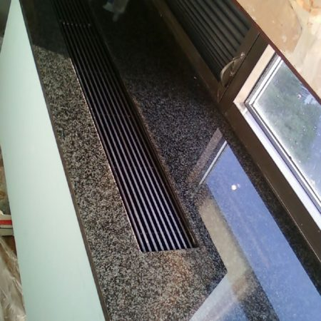 Buckling Radiator Granite Sill. After Crack Repair