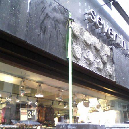 Conway Store Granite Panels Resetting