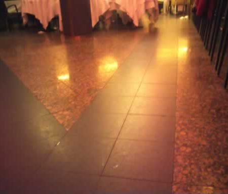 Granite Floor before Restoration in Restaurant Petrossian NYC