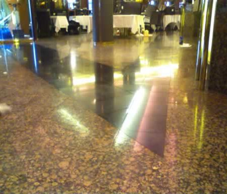 Polished Granite Floor in Restaurant