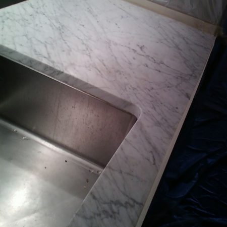 Kitchen White Carrara. Refinishing