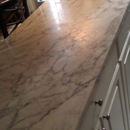 Etches on Kitchen Bar Top. Before
