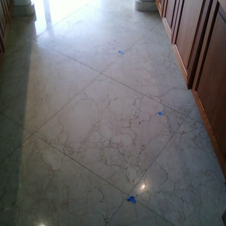 Kitchen Worn Floor. Before Polishing