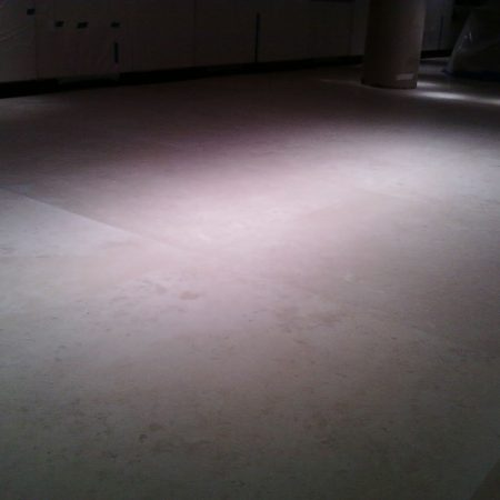 lackluster Limestone Floor Slabs after Cleaning