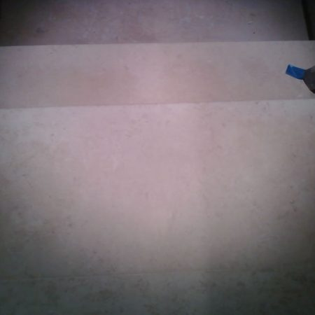 Cleaned & Scrubbed Limestone Steps
