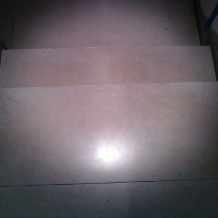 Limestone Steps before Cleaning and Honing