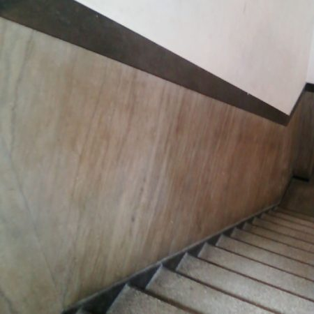 Stairway Marble Wall before Cleaning and Refinishing