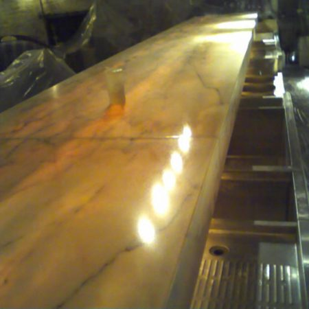 Restored Bar Top With Under-Light
