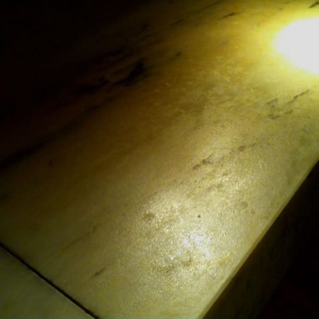 Disrepair Marble Bar Top. Leached Rough Surface