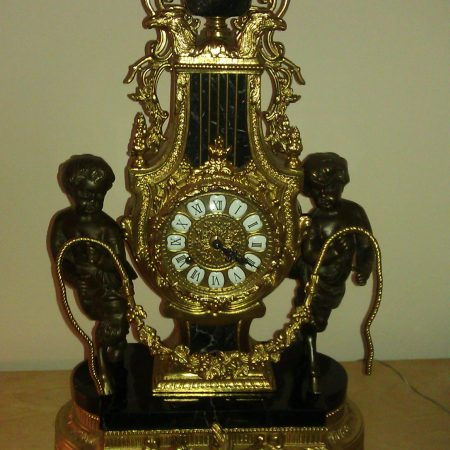 Replaced Marble Base Plaque on Bronze Clock