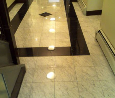 Refinished Marble Lobby Floor