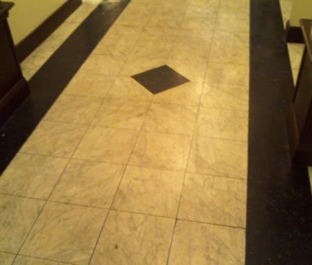 Marble Lobby Floor Refinishing