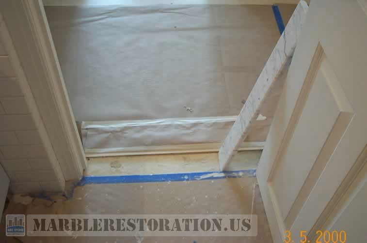 Marble Door Saddle Threshold Installation