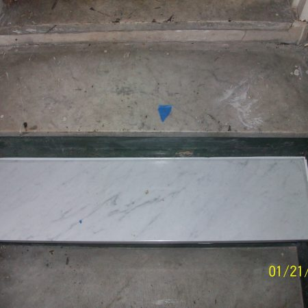 Single Carrara Marble Step Replaced