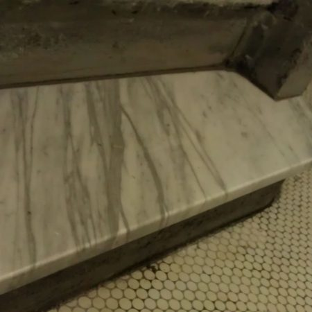 Vestibule New Carrara Step Installed