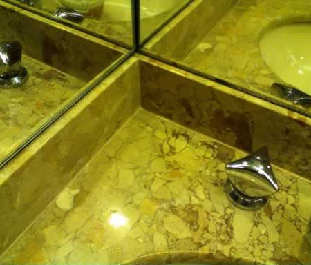 Re Caulked Marble Vanity