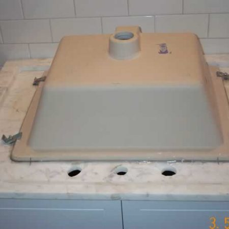 Rectangular Sink Mounting to Carrara Counter