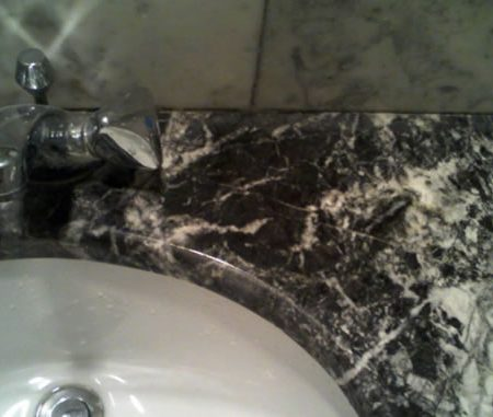 Soap Stain on Marble Vanity Completely Removed