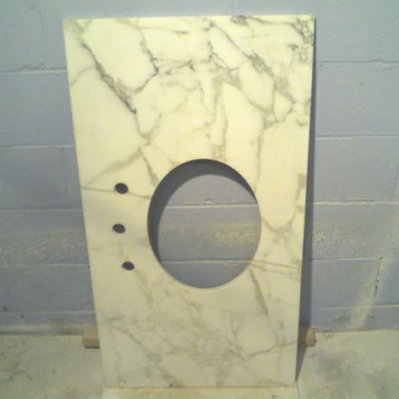 Calacatta Gold Vanity after the Crack Repair