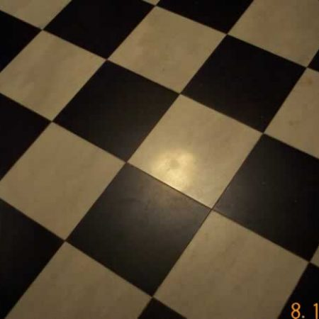 Tiled Marble Floor. Before Refinishing