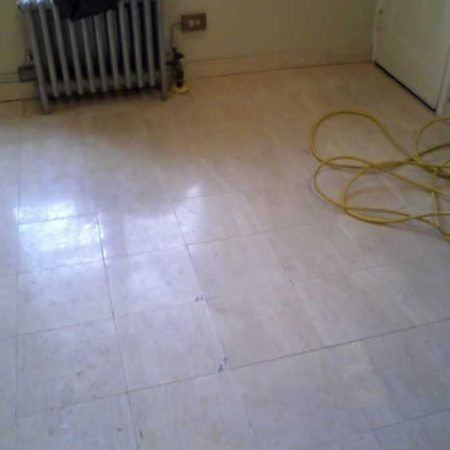 Tarnished Travertine Floor Before Restoration