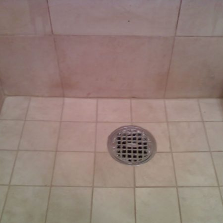Shower Floor. Mold & Stains Removal