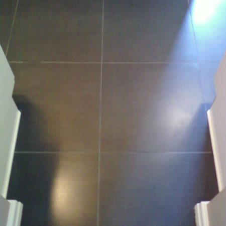 Sealer Film Stripped from Porcelain Floor Tiles
