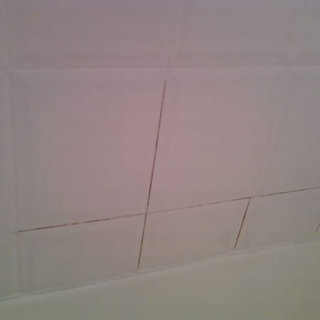 White Ceramic Tiles Before Applying New Grout