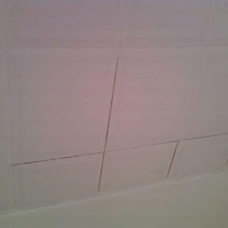 White Ceramic Tiles Before Applying New Grout