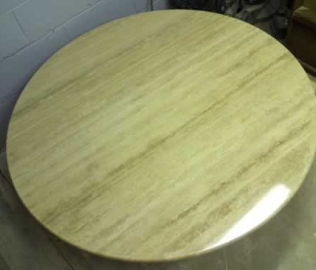 Restored Travertine Round Dining Table