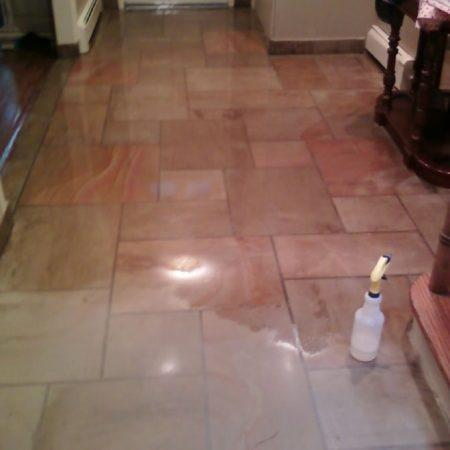 Sandstone Floor Sealing. Impregnator Sealer